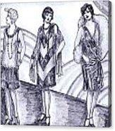 Rainbow 1920s Fashions Acrylic Print