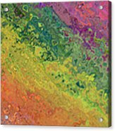 Rainbow Abstract Acrylic Print