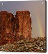 Rainbow And Red Rock Acrylic Print