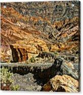 Rainbow Canyon Death Valley Acrylic Print
