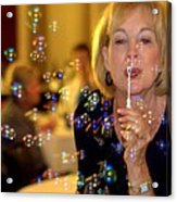 Rainbow Colored Bubbles  Acrylic Print