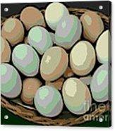 Rainbow Eggs Acrylic Print