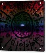 Rainbow Electric Baby Bump Acrylic Print