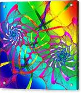 Rainbow Eyes Acrylic Print