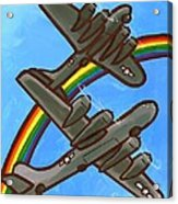 Rainbow Flight Acrylic Print