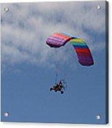 Rainbow Flying Machine Acrylic Print