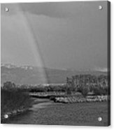 Rainbow In Black And White Acrylic Print