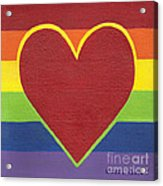 Rainbow Love Acrylic Print by Kristi L Randall
