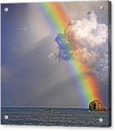Rainbow On Birdrock- St Lucia. Acrylic Print