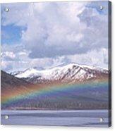 Rainbow Over A Lake Acrylic Print