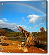 Rainbow Over Affric Acrylic Print