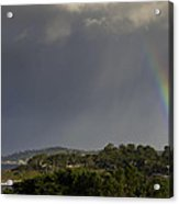 Rainbow Over Carmel Acrylic Print by Mike Herdering