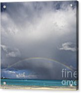 Rainbow Over Emerald Bay Acrylic Print by Dennis Hedberg