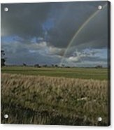 Rainbow Over Fields At Kangaroo Island Acrylic Print