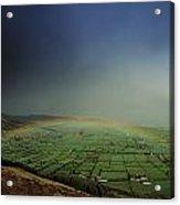 Rainbow Over Fields In Slieve Gullion Acrylic Print