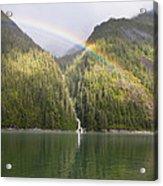 Rainbow Over Forest, Endicott Arm Acrylic Print