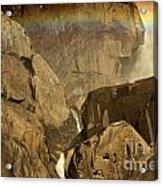 Rainbow Over Lower Bridal Veil Acrylic Print