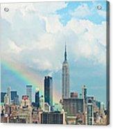 Rainbow Over Manhattan Acrylic Print