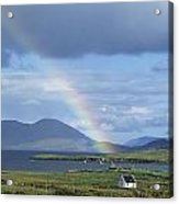 Rainbow Over Mountains, Ballinskelligs Acrylic Print