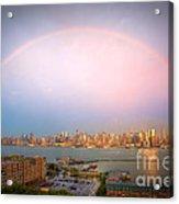 Rainbow Over New York City II Acrylic Print
