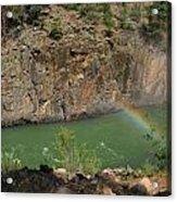Rainbow Over The Creek Acrylic Print