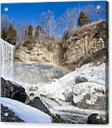 Rainbow Over The Webster's Fallslls Acrylic Print by Luba Citrin