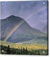 Rainbow Over Willmore Wilderness Park Acrylic Print