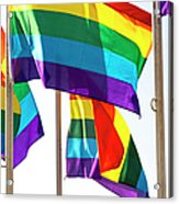 Rainbow Pride Flags Against White Background Acrylic Print