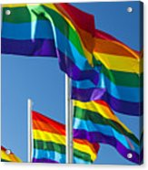 Rainbow Pride Flags Acrylic Print