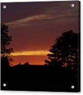 Rainbow Sherbet Sunset Acrylic Print