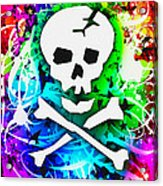 Rainbow Skull 3 Of 6 Acrylic Print