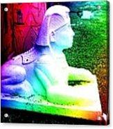 Rainbow Sphinx Acrylic Print