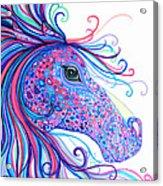 Rainbow Spotted Horse Acrylic Print