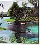 Rainbow Springs In Florida Acrylic Print