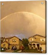 Rainbows Over Suburbia 1 Acrylic Print