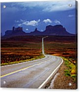 Rainclouds Over Monument Valley Acrylic Print