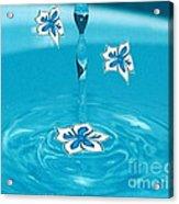 Raindrop Flowers Acrylic Print