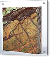 Rainforest Green Marble Acrylic Print