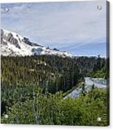 Rainier Journey Acrylic Print by Mike Reid