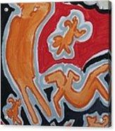 Raining Acrylic Print by Jay Manne-Crusoe