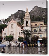 Rainy Day In Taormina Acrylic Print