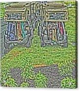 Rainy Day On The Links Acrylic Print