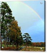 Rainy Day Rainbow Acrylic Print