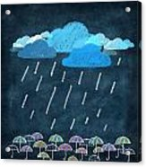 Rainy Day With Umbrella Acrylic Print by Setsiri Silapasuwanchai