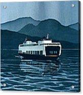 Rainy Ferry Acrylic Print by Scott Nelson