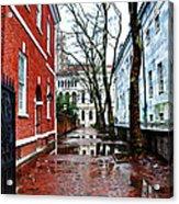 Rainy Philadelphia Alley Acrylic Print by Bill Cannon