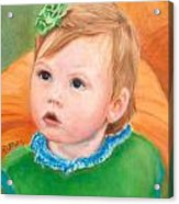 Ramey Kate In The Pumpkin Patch Acrylic Print