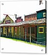 Ranch Buildings - White Acrylic Print