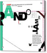 Random Acrylic Print by Naxart Studio