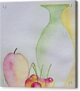 Ranier Cherries And A Pink Lady Acrylic Print